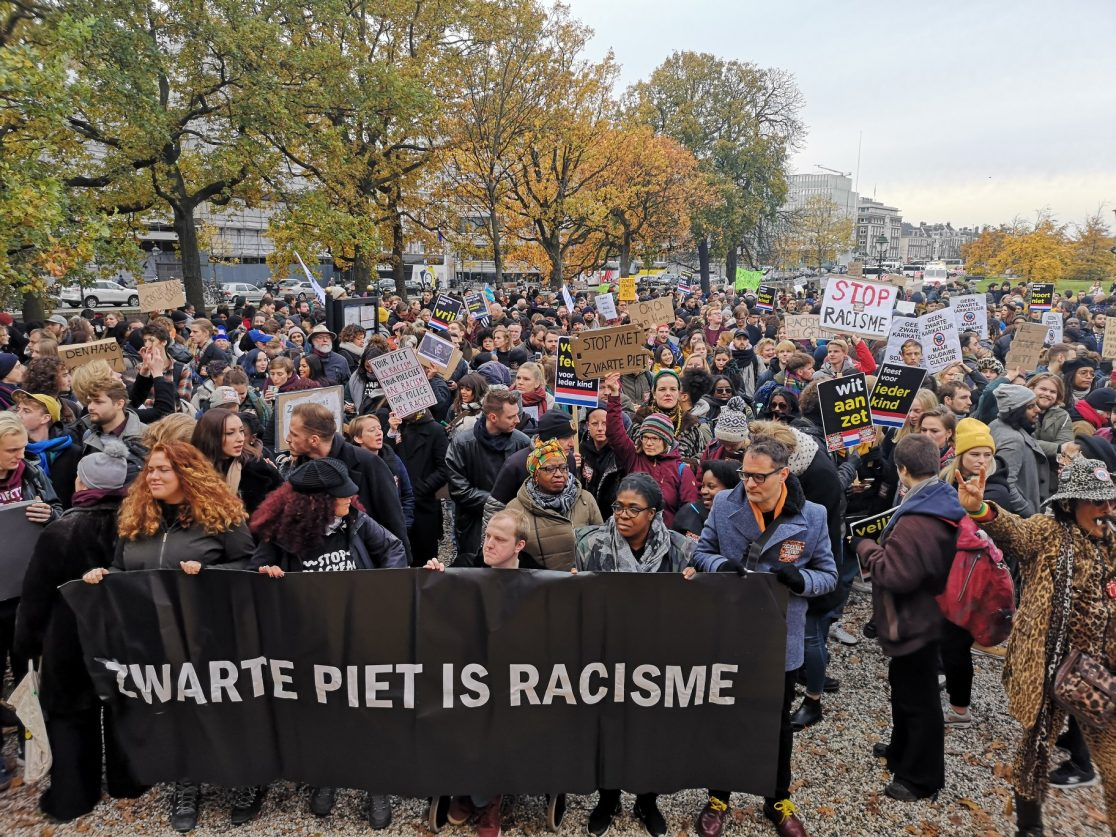 Demonstratie KOZP Den Haag Kick Out Zwarte Piet